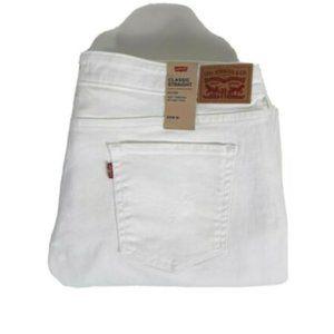 Levis Women 414 Classic Straight Leg White Jeans